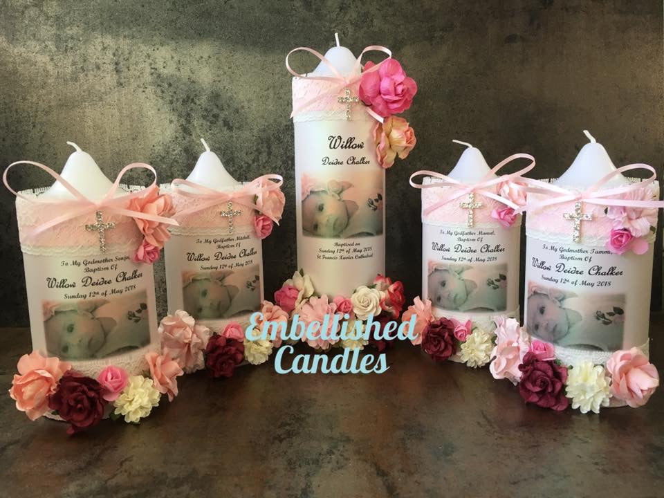 Baptism, Christening and Naming Day Personalised Candles