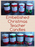 Christmas Personalised Embellished Candles 7 x 10cms