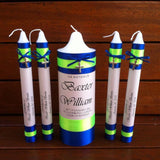 Tapered Godparent Set of 4 Baptism / Christening Personalised Candles