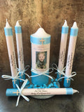 Tapered Godparent Set of 3 Baptism / Christening Personalised Candles