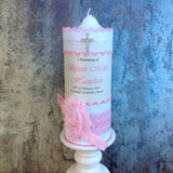 Embellished Baptism / Christening Personalised Candles