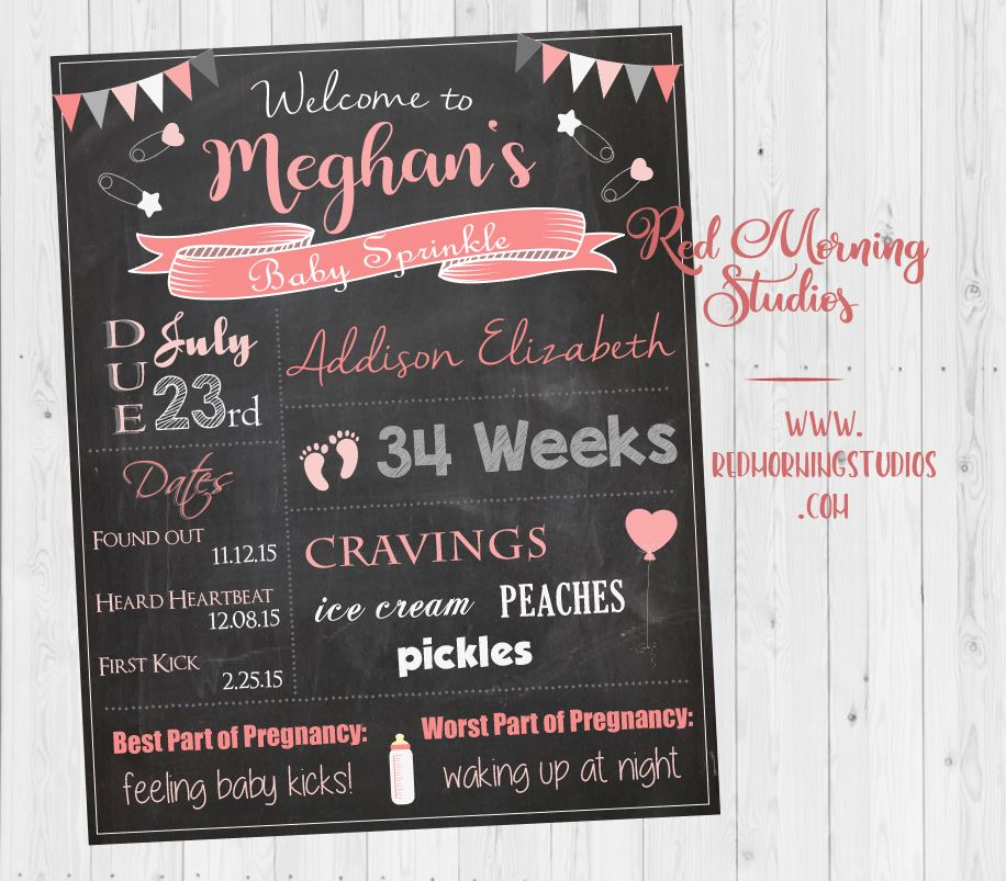 Baby Sprinkle Welcome Sign. girl baby sprinkle chalkboard Sign. girl Baby sprinkle Custom Decorations. girl baby sprinkle Custom Games.