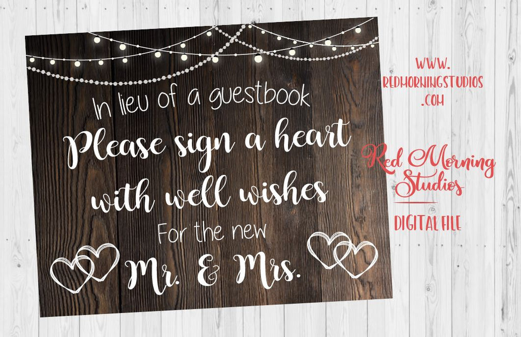 Sign a Heart sign. rustic wedding guest book. PRINTABLE. instant download. alternative guestbook. alternate guestbook. rustic sign