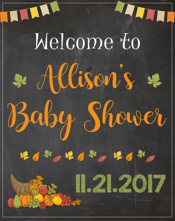 Autumn Baby Shower Welcome Sign. Fall baby shower decorations. PRINTABLE. autumn leaves baby shower decor. party gender neutral thanksgiving