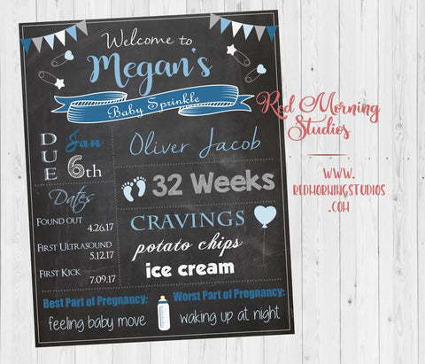 Baby Sprinkle Welcome Sign. Boy baby sprinkle chalkboard Sign. Boy Baby sprinkle Custom Decorations. Boy baby sprinkle Custom Games