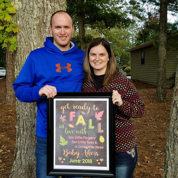 Fall in Love Pregnancy Announcement Sign