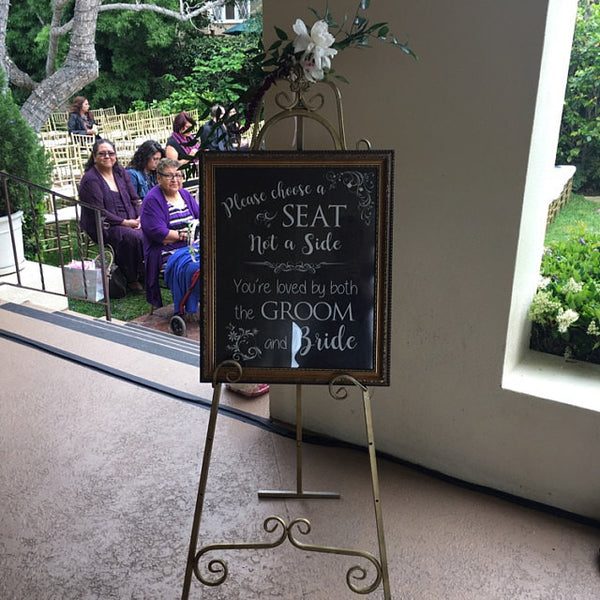 Choose a Seat Not a Side PRINTABLE wedding sign
