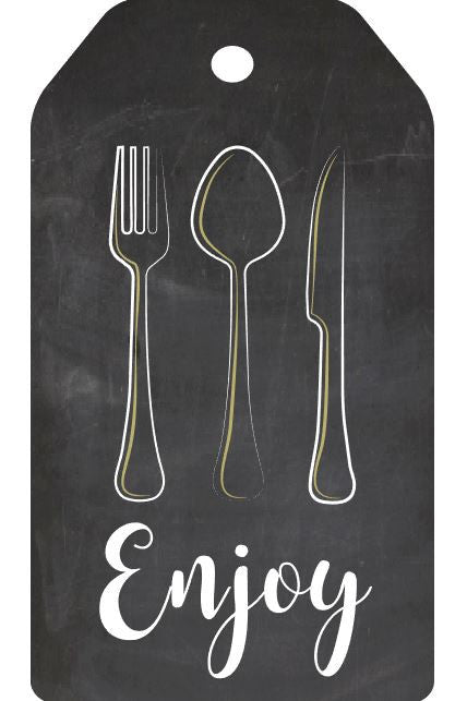 Silverware Tag PRINTABLE cutlery gift tag wedding chalkboard digital instant download