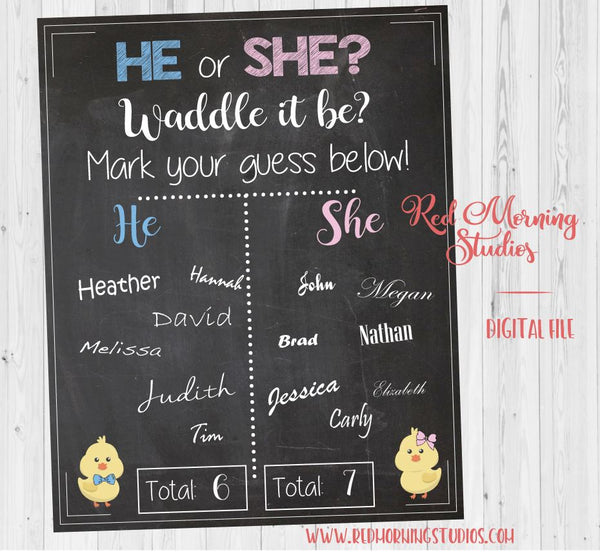 Spring Gender Reveal Guess sign - PRINTABLE