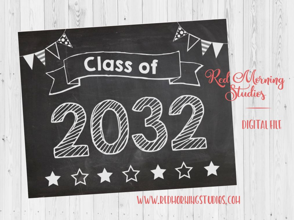 Class of 2032 sign. First Day of preschool sign. PRINTABLE. 1st day preschool sign. first day of pre k. back to school. preschool photo