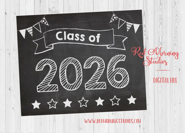 Class of 2026 sign. First day of 5th grade sign. PRINTABLE. 1st day of 5th poster. teacher photo prop. back to school activity. classroom