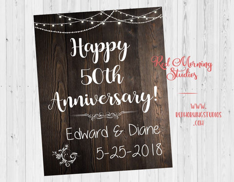 Anniversary Party sign. Anniversary Party welcome sign. Anniversary Party decorations. Anniversary Party ideas. rustic Anniversary Party