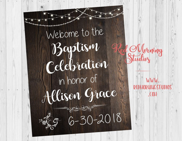 Baptism Celebration Welcome Sign. Baptism party welcome poster. Baptism decorations. Baptism ideas