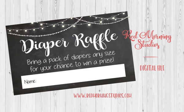 Diaper Raffle Tickets. chalkboard diaper raffle tickets. PRINTABLE. chalk baby shower game. digital instant download. elegant. black white