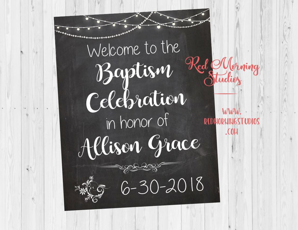 Baptism Party sign welcome sign. Baptism decorations. Baptism Party ideas. black white chalkboard chalk