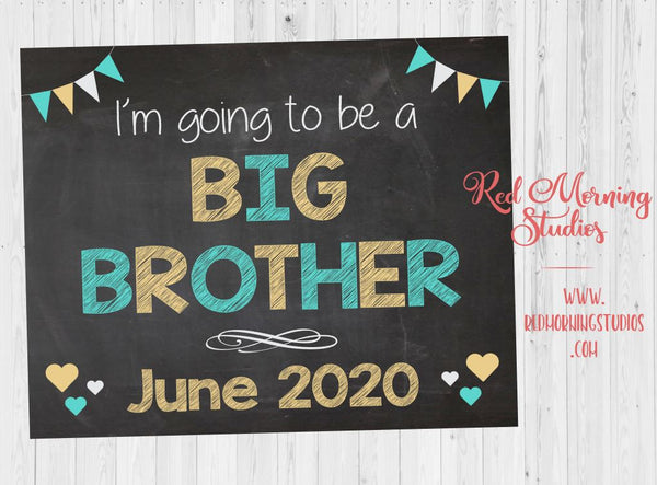 Big Brother Announcement Sign. I'm going to be a Pregnancy Reveal Sign. Big Brother pregnancy announcement poster.  new baby sign