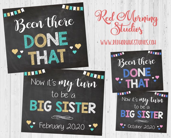 Baby #3 Pregnancy Announcement - Been There Done That Big Sister