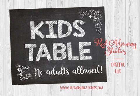 Kids' Table wedding sign. PRINTABLE. Children's table sign. Kids table wedding. instant download. kids favors. children's activities.