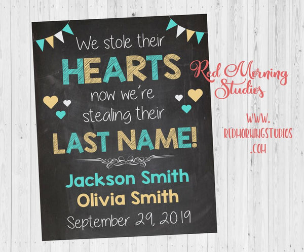 Siblings Adoption Announcement sign. Multiple Children Adoption day poster. twins chalkboard. stole their hearts now stealing last name