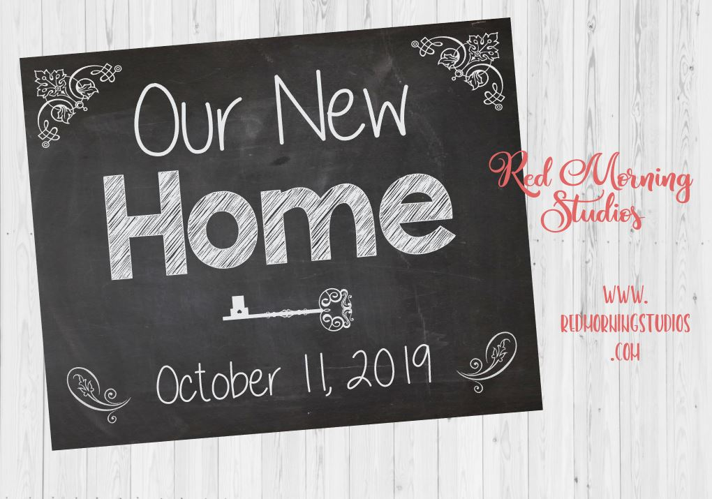 Our New Home Sign. Our New House Announcement sign. Housewarming homewarming poster. New Home photo prop sign. Real estate agent gift