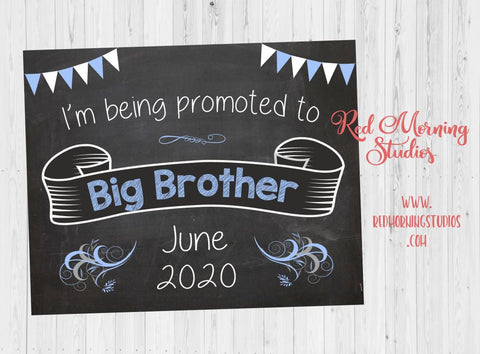 Big Brother Announcement Sign. Big Brother Pregnancy reveal sign. I'm being promoted to big brother. new baby chalkboard poster