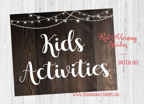 Kids' Activities sign. PRINTABLE. Children's table wedding sign. Kids table wedding. instant download. kids favors. children's activities.