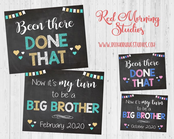 Baby #3 Pregnancy Announcement - Been There Done That Big Brother