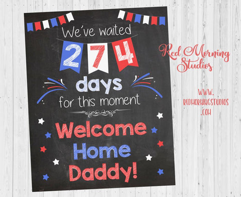 Welcome Home Daddy sign. Deployment homecoming poster from child. Soldier Chalkboard. PRINTABLE military  DIGITAL