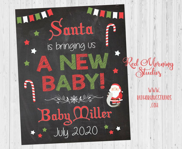 Big Brother Christmas Pregnancy Announcement Sign. Big Sister Christmas Pregnancy Reveal sign. New Baby Sign. dear santa letter wishlist