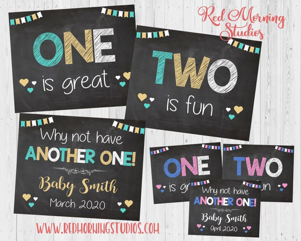 Third Baby Announcement sign. Sibling Pregnancy Reveal. Baby #3 pregnancy announcement posters. new baby social media. 3rd child.