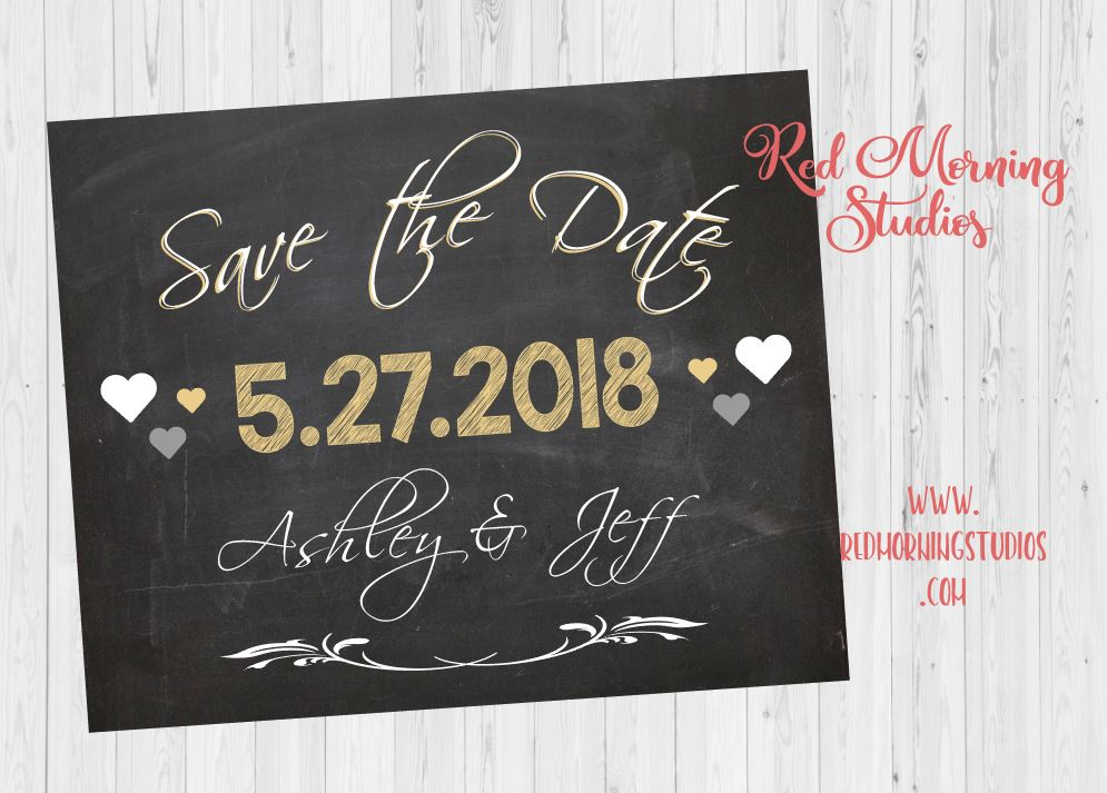 Engagement Announcement Sign. Save the date poster. Engagement photo session prop