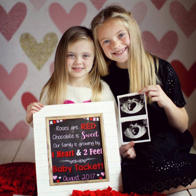 Valentine S Day Pregnancy Announcement Sign Red Morning Studios