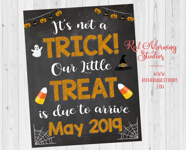 Halloween Pregnancy Announcement Sign. Halloween Pregnancy reveal sign. PRINTABLE. Trick or Treat. new baby poster. social media