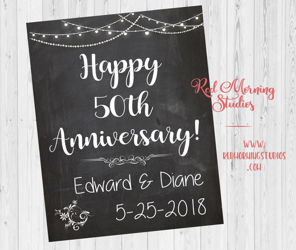 Anniversary Party sign. Anniversary Party welcome sign. Anniversary Party decorations. Anniversary Party ideas. black white chalkboard chalk