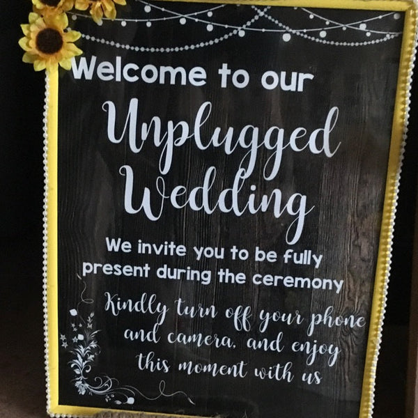 Unplugged Wedding rustic sign PRINTABLE