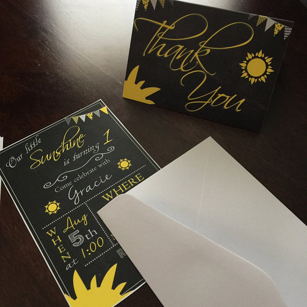 You are my Sunshine Birthday Party Invitation PRINTABLE