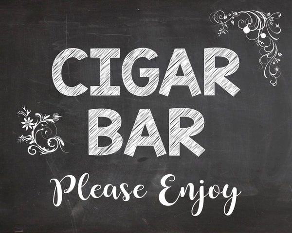 Cigar Bar sign. wedding cigar favors sign. PRINTABLE wedding favors sign. chalkboard wedding sign. cigar. smoke. cigar lounge.