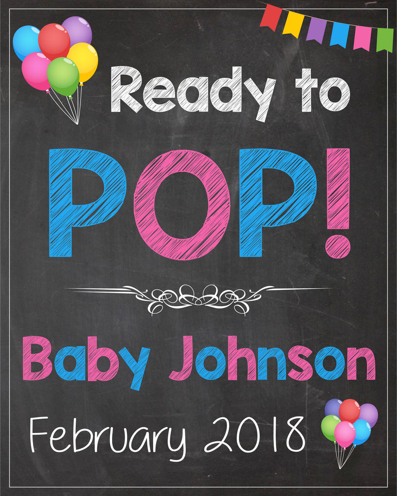 Pregnancy Reveal Photo Prop Sign. PRINTABLE. pregnancy announcement sign. maternity shoot photo prop. ready to pop. maternity pictures