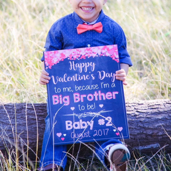 Valentine's Day Big Brother Reveal sign