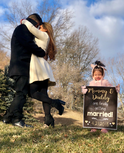 Mommy and Daddy are Getting Married- Engagement Announcement Sign