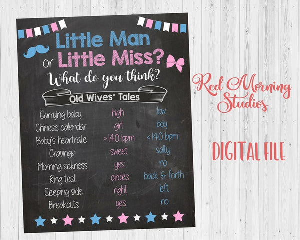 Little Man or Little Miss Old Wives' Tales sign - PRINTABLE
