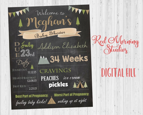 Camping Baby Shower welcome sign