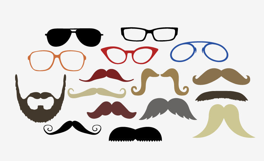 It's just an image of Printable Moustaches within animated