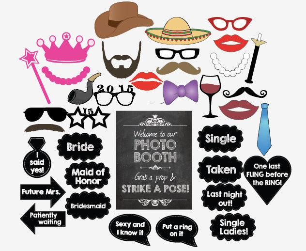 picture regarding Wedding Photo Booth Props Printable known as Bachelorette picture booth props. PRINTABLE