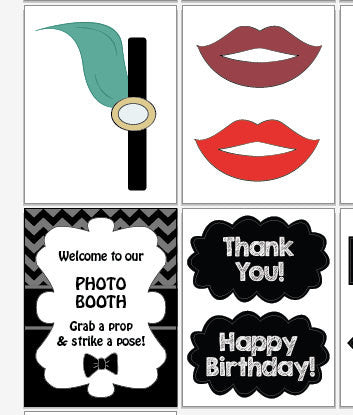 1920s Photo Booth Props. PRINTABLE