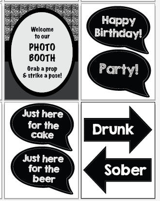 photograph relating to Printable Photo Booth Props named 21st Birthday photograph booth props. PRINTABLE