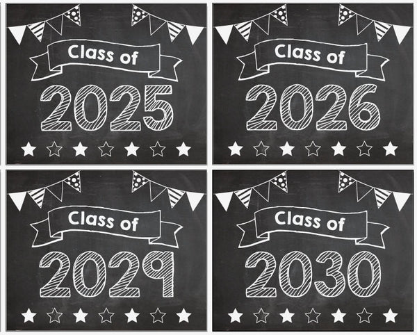 First Day of School sign Class of INSTANT DOWNLOAD printable digital Graduating class year chalkboard Chalk Board photo prop