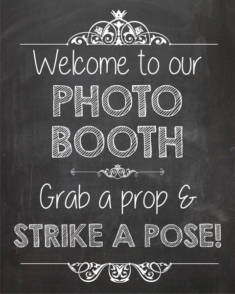 Costco Print Sizes >> Photo Booth Welcome Sign PRINTABLE – Red Morning Studios