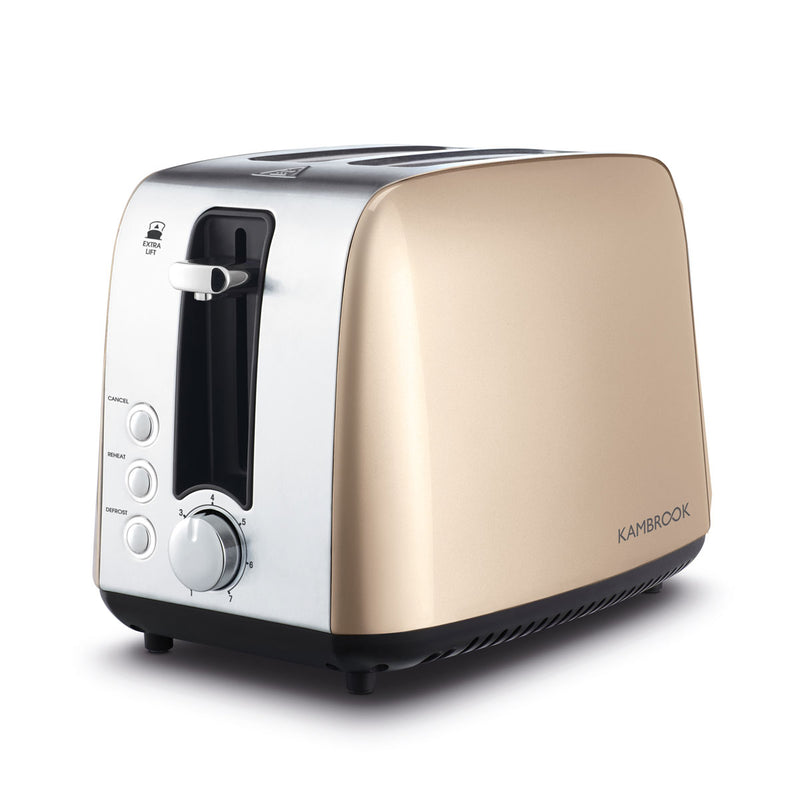 Deluxe Collection 2 Slice Stainless Steel Toaster
