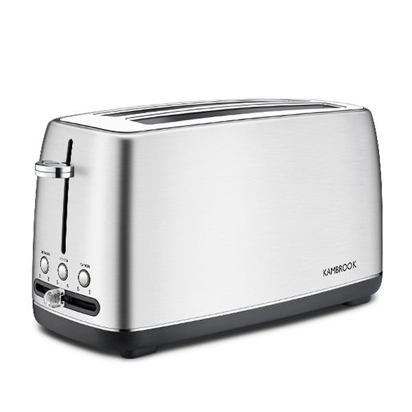 4 Slice Stainless Steel Long Slot Toaster